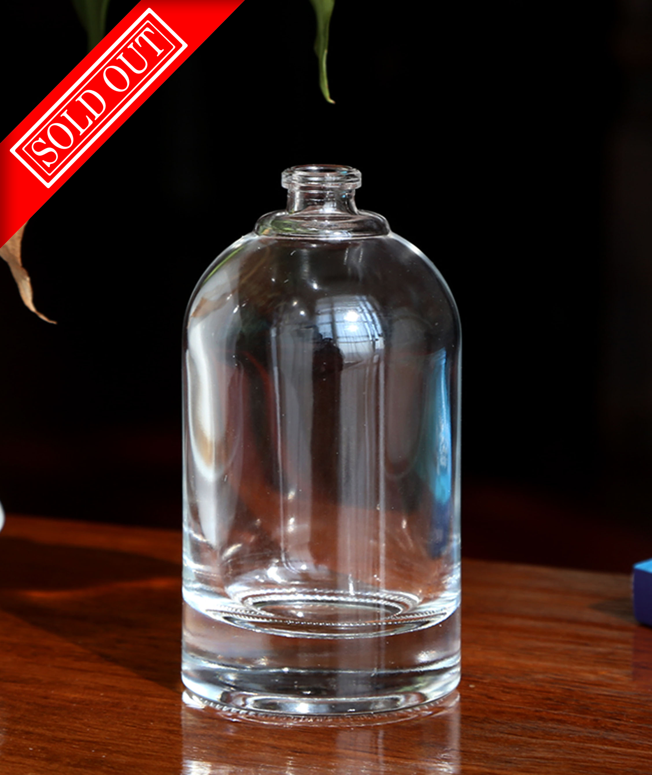 READY FOR DELIVERY: GB-073-1  100ML flint bottle, round shoulder, thick bottom heavy bottle.